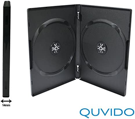 50 quvido Caja DVD Negro Doble 2 CDs/DVDs 14 mm: Amazon.es: Informática