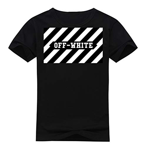 For T Logo Back white Women In shirt And White Off Black zIHnw