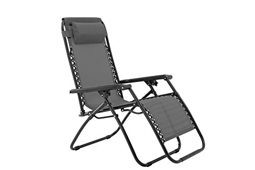 Sunjoy Zero Gravity Chair-Grey by Sunjoy