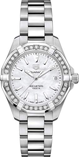 Tag Heuer Aquaracer Lady 300M 32MM Mother of Pearl Diamond Women's Watch ()