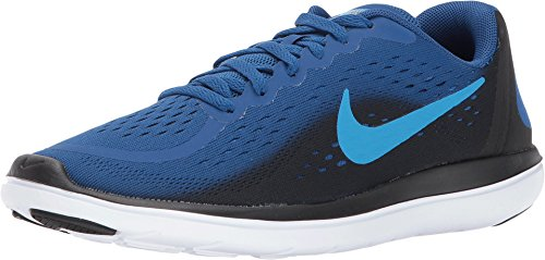 Boys 7y Shoes Running - Nike Boy's Flex RN 2017 (GS) Running Shoe Gym Blue/Blue Orbit/Black/White Size 7 M US