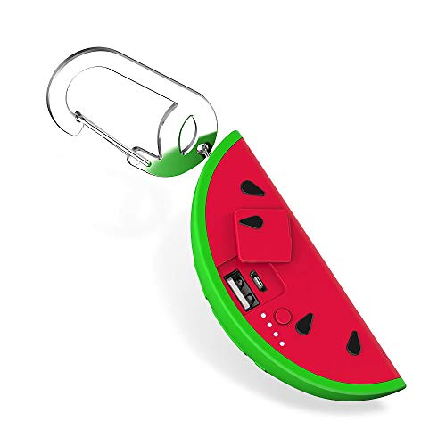 BUQU Melo Watermelon Portable Charger 2500mAh Power Bank Cute Universal Phone Battery Charger Works Apple iPhone, Samsung, Android USB Mobile Devices