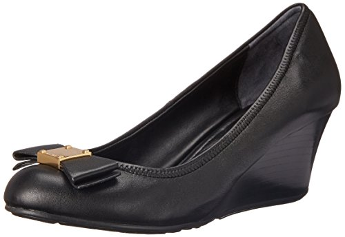 Cole Haan Women's Tali Grand Bow WDG65 Wedge, Black, 7 B US by Cole Haan