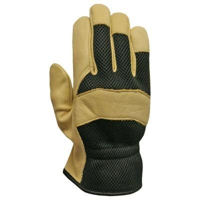 Firm Grip Gloves (Firm Grip X-Large Grain Leather with Mesh Back Glove)
