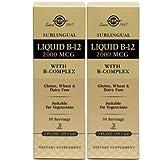 Solgar – Sublingual Liquid B-12 2000mcg with B-Complex Twinpack-4floz