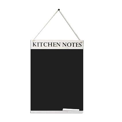 Chalkboards UK Pizarras de Cocina de Reino Unido, Pizarra, Madera, Blanco, 420 x 600 mm