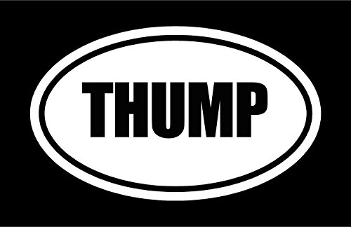 yl THUMP oval Euro style vinyl decal sticker (Thump Wall)