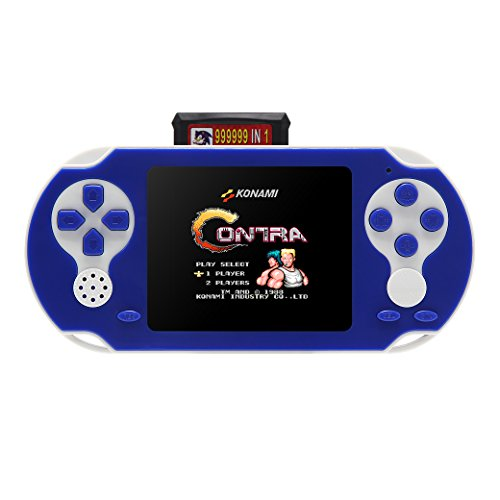 "JXD NEW 8-16Bit Retro 2.5"" Video Games Portable Handheld Console Built-in ACT/FTG/SPG/STG/RAC/Puzzle Games Retro PVP PVE FC/SFC Games Console (GM01028DBlueUS)"
