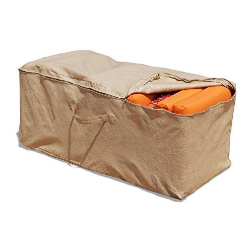 Budge All-Seasons Cushion Storage Bag P9A10SF1, Tan (19.5 H x 47.5 W x 18 D)