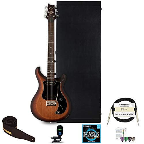 - PRS S2 Standard 24 Satin Electric Guitar with Hard Case and Accessories, McCarty Tobacco Sunburst Satin