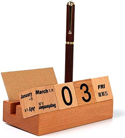[해외]seelive Punchki Wooden Desk Calendar 2020,Wooden Perpetual Calendar Home Desktop Study Desk Wooden Calendar Blocks Ornaments Home Supplies and Decoration Honest / seelive Punchki Wooden Desk Calendar 2020,Wooden Perpetual Calenda...