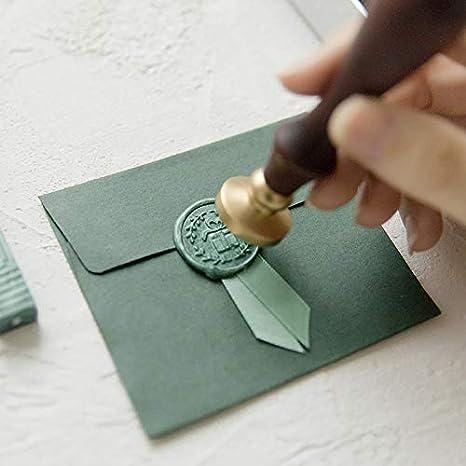 Iycorish Grigio Creativo Vernice Speciale Seal Set DIY Fatti Nastro Sigillo Busta Timbro Ceralacca Regalo Del Bollo Antico Sigillo Messaggio Antique Decorative