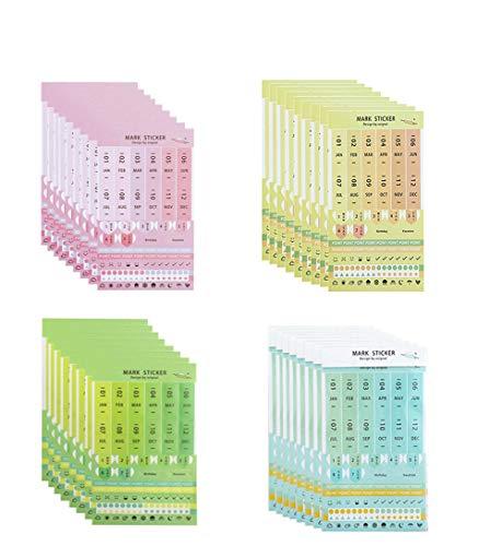 Eilova DIY Neon Weekly Monthly Calendar Stickers