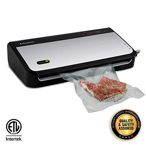 FoodSaver FM2435 Vacuum Sealer Machine with Bonus Handheld Sealer and Starter Kit | Safety Certified | Silver (Best Vacuum Sealing System)