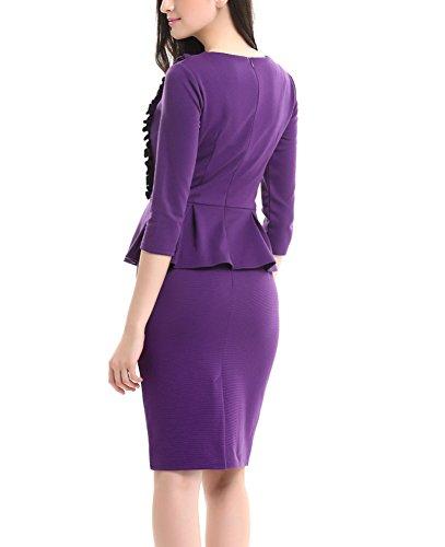 U8Vision - Vestido - Manga Larga - para mujer morado
