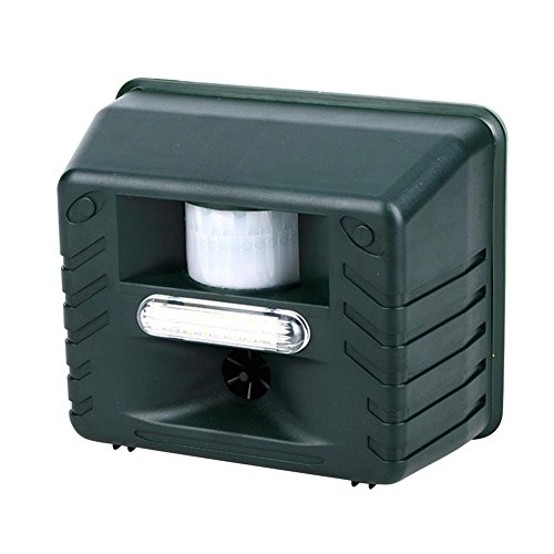 Ultrasonic Pest Repeller Remote Control Outdoor Infrared Induction Animal Repeller Waterproof Repellent for Dog, Cat, Bird, Rat, Rabbit, Vole