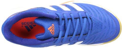 adidas Court Stabil 10.1 - zapatillas de balonmano de material sintético hombre azul - Blau (Blue Beauty F10 / Running White Ftw / Infrared)