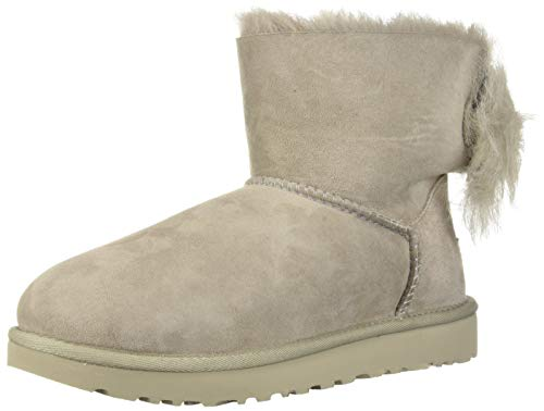 UGG Women's W Fluff Bow Mini Fashion Boot, Willow, 9 M US (Women Boots Mini)