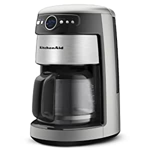 KitchenAid 14-Cup Glass Carafe Coffee Maker, Contour Silver