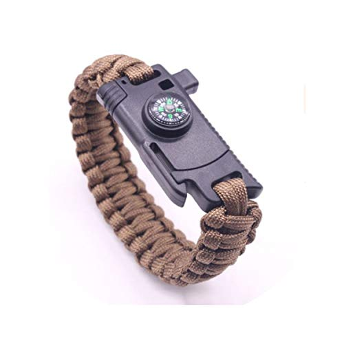 Tea language Men Multi-Function Field Survival Braided Bracelet Outdoor Camping Emergency Rope for Women Jewelry