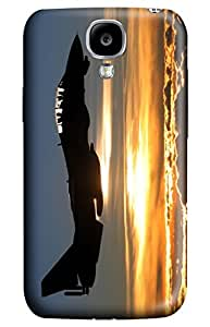 Simply Case Designs Airplane Fly against Sunset Design PC Material Hard Case for Samsung Galaxy I9500 S4