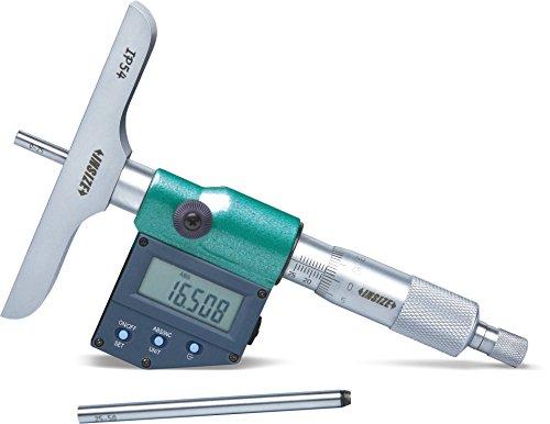 Insize 3540-150 Micr/ómetro digital profundidad: 101,5 x 17 mm, 0 mm-150 mm
