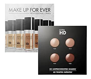 372d94be32 Amazon.com : Make Up For Ever Ultra HD Foundation Sample Card 4 Shades  Y225- Y335 - Y415 - Y505 : Beauty