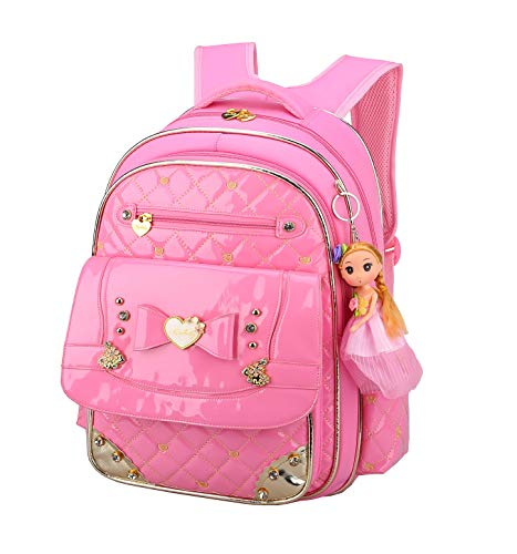 Bookbag for Girls,Gazigo Waterproof Girls Backpack with bows Back to School Gifts (Pink, Small)