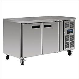 Heavy Duty 2 Door Counter Worktop Fridge 228Ltr /Commercial Kitchen  Professional Restaurant Cafe Chef Counter Worktop Refrigerator:  Amazon.co.uk: Books