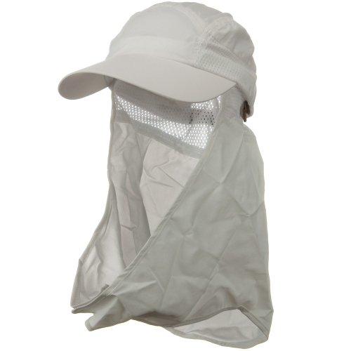 Juniper UV 50+ Talson Removable Flap Cap - White