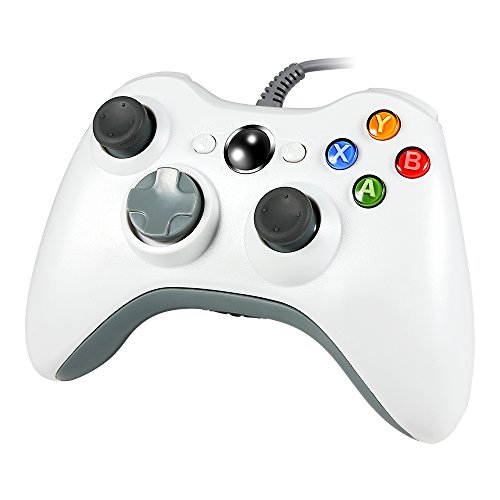 Wired PC Controller, Wetoph GD03 USB Gamepad with Headset slot For Xbox 360 and PC(Windows XP/7/8/10)(White)