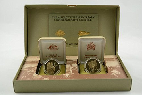 NZ 1990 Uncirculated Coin Set - ANZAC 75th Anniversary Uncirculated