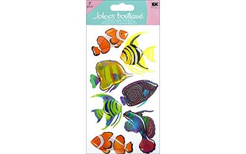 Le Grande Vellum Dimensional Stickers - Jolee's Boutique Le Grande Dimensional Sticker-Vellum Tropical Fish