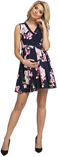 Skater MAMA Fashion HAPPY Dress Layered Sleeveless 5 Ville Midi Zeta Style Nursing Women's 1a1UTq