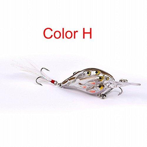 Smartcoco 8cm/9.38g Jerkbait Crankbait Ball Fishing Lures Fishing Bass Bait Lures Hard Plastic Artificial Bait 4# Fishing Tackle