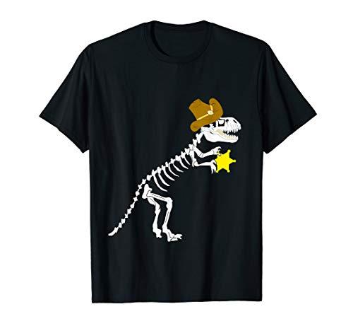 Cowboy Fossil Hunter Dinosaur Sheriff Rancher T Rex T-Shirt (Fossil Women Hat)