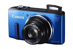Canon Powershot SX270 HS 12 MP Digital Camera with 20x Optical Zoom and 3-Inch LCD Display, Blue (8229B005)