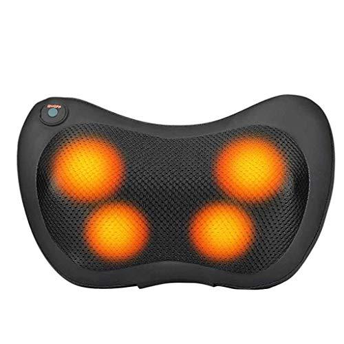 (Back Massager Neck Foot Massager Electric Shoulder Deep Tissue Massage Cushion with Infrared Heating + 4 Massage Rollers)