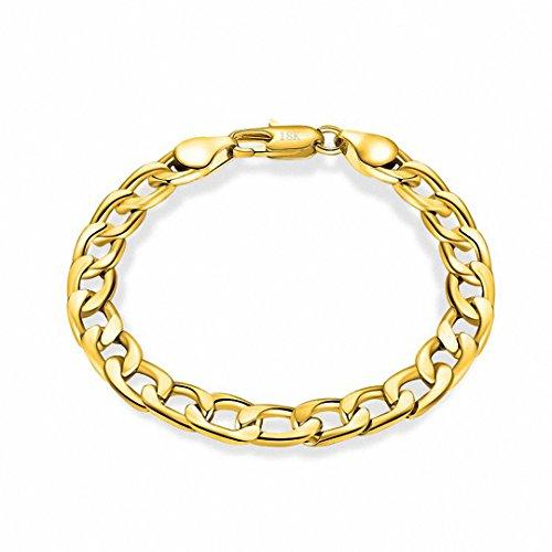 8 Mm Figaro Bracelet - 7