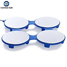 HotMat Electric Food Warming Tray - Compact & Portable - Dual Warming Temperatures - Perfect for Shabbos, Home & Travel - TÜV SÜD Safety Certified (Blue)