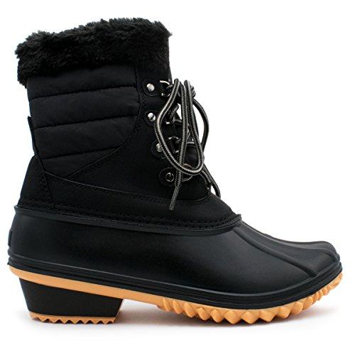 Premier Standard Frauen Sticken Lace Up Side Zip wasserdichte isolierte Schneeschuhe Premier Schwarz