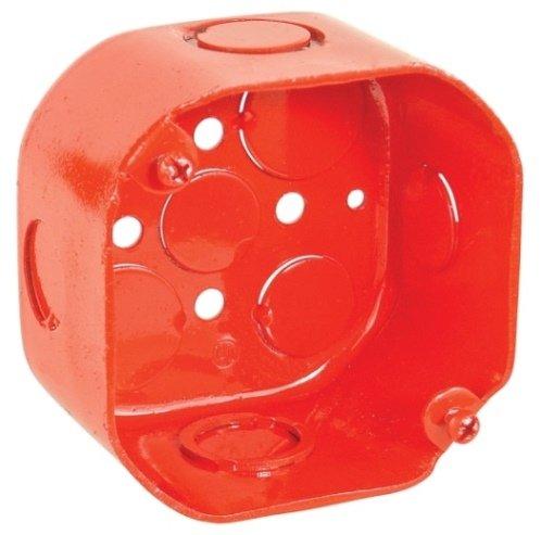 4 Inch Octagon 2-1/8 Inch Deep Red Box-5 per case