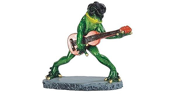 StealStreet Figura de Rana de Elvis Tocando la Guitarra, 6,5 ...