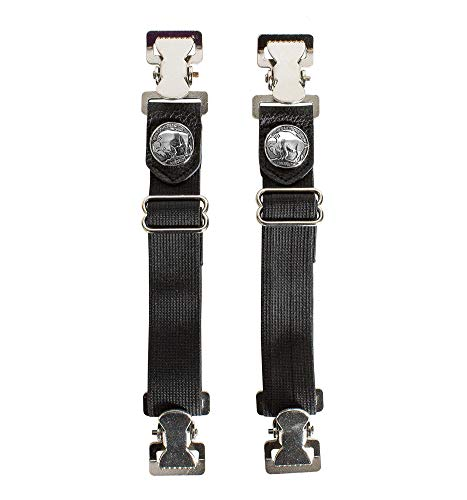 Buffalo Nickle Motorcycle Pant Clip Boot Bungee Riding Straps