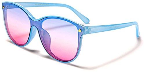 SDK de soleil Blue Taille SUNGLASSES unique pink Lens Femme Lunette Blue ff1r7wxqE