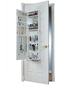 the armoire doors ip over combination door mirrotek makeup jewelry and