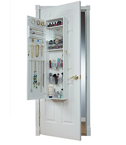 Mirrotek Over The Door Combination Jewelry and Makeup Armoire, White by Mirrotek