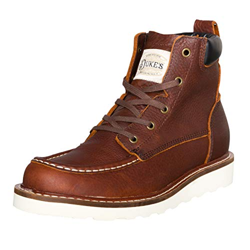 Duke's Mens Boots - Portland Leather Work Boot with Premium Cushion Insole - Eagle Boot Leather