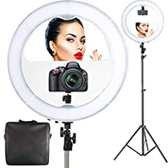 """Photo Doctors All In One 18"""" LED Video Ring Light Kit                Lighting made easy...              Say goodbye to wasting time on adjusting multiple studio softboxes to achieve perfect lighting, the Photo Doctor Ring Light Kit is ..."""