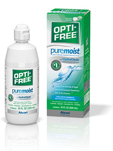 Opti-Free Puremoist Multi-Purpose Disinfecting Solution with Lens Case, 10-Ounces